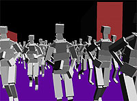 поведение толпы crowd simulation